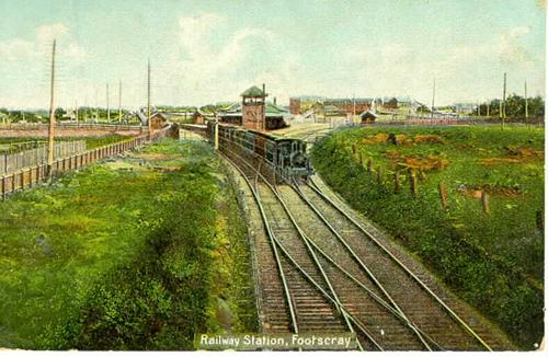 Footscray station circa 1910