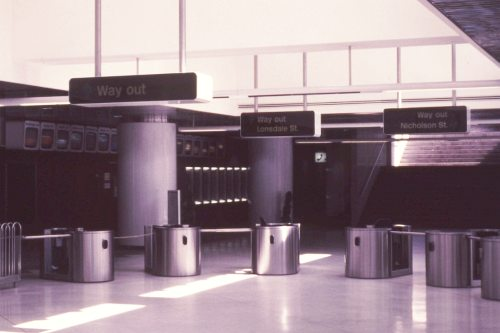 Parliament North Concourse in 1985 (Weston Langford collection)