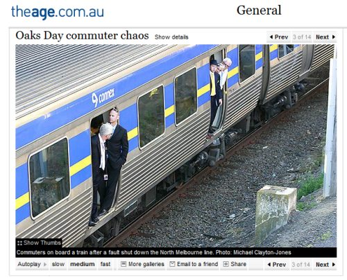 Oaks Day train failures, 2008