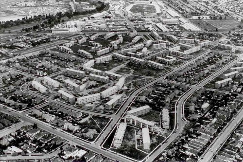 Housing Commission estate at Ascot Vale in the 1950s