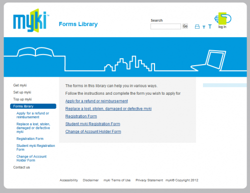 Myki forms library