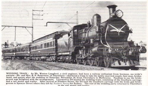 Wedding train, VR Newsletter January 1968