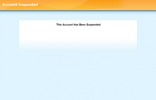'Website Suspended' message from cPanel
