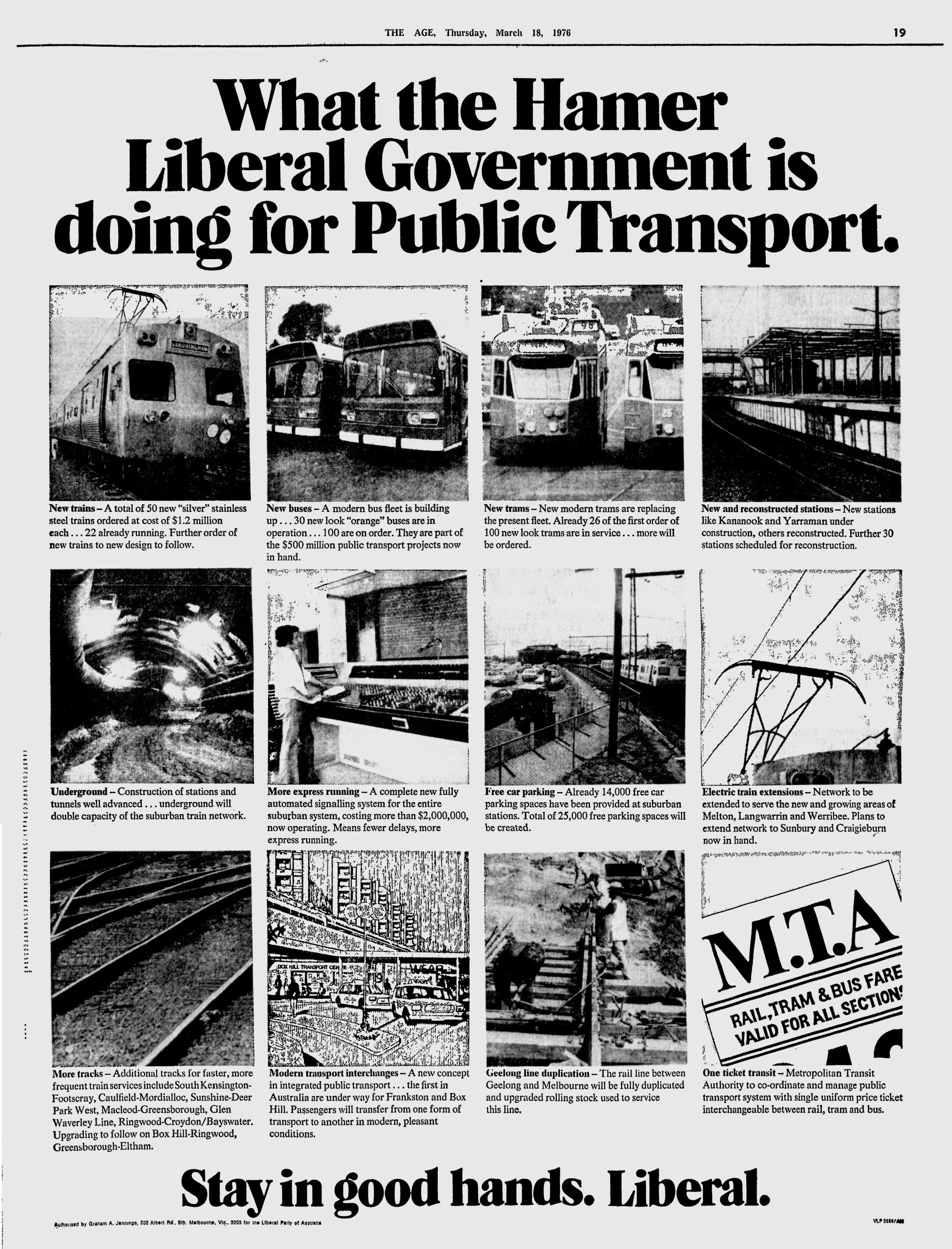 A Trip Back To 1976 What The Hamer Government Is Doing For Public Transport Waking Up In Geelong