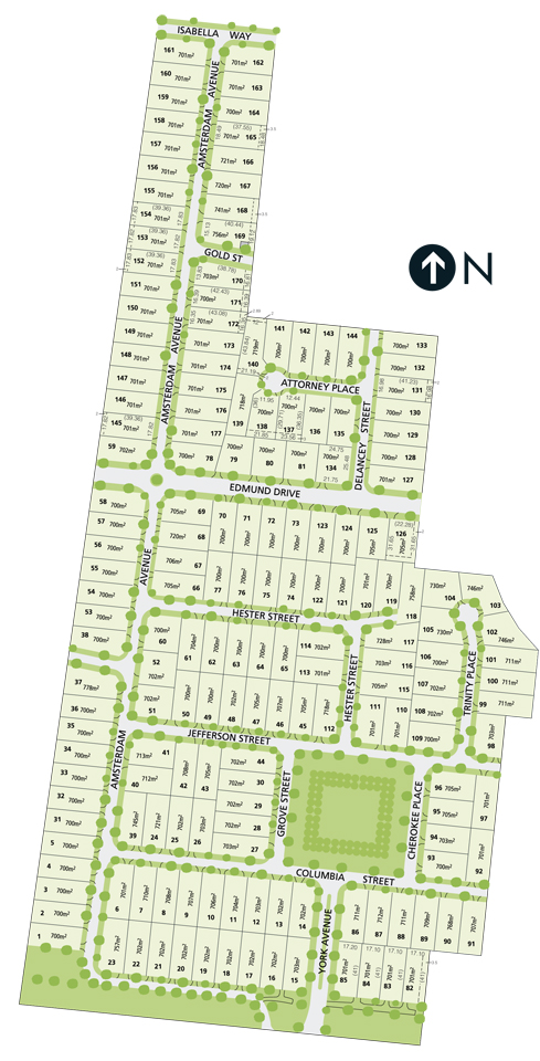 Diagram of the 'Manhattan Place' housing estate in Tarneit, Victoria