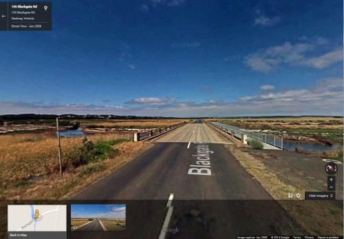 Blackgate Road, Connewarre, Victoria - via Google Streetview