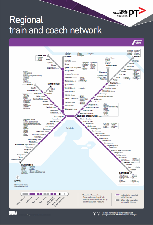 Confusing V/Line network map