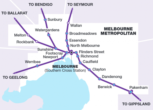 Slightly less confusing V/Line network map