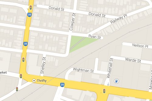 Footscray's Fordham Reserve on Google Maps