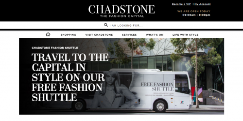 Chadstone Shopping Centre - free fashion shuttle bus