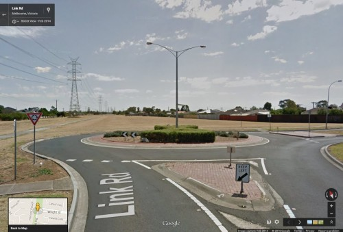Roundabout to nowhere - Link Road, Sunshine West, Victoria