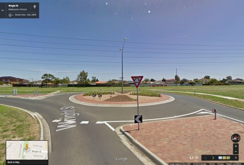 Roundabout to nowhere - Wright Street, Sunshine West, Victoria