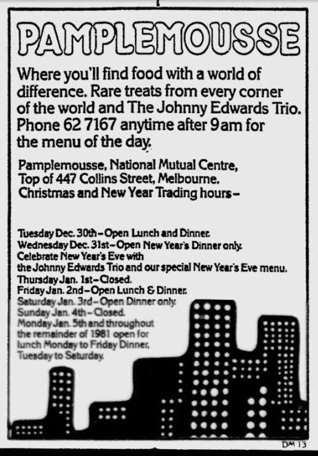 Pamplemousse restaurant: The Age - Dec 30, 1980