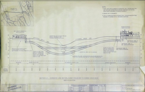 Tunnels at the Playboy mansion - full size schematic diagram