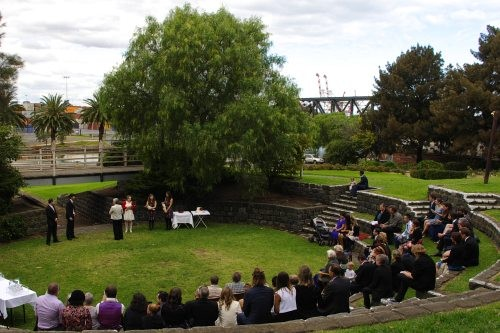 Wedding by the Maribyrnong River