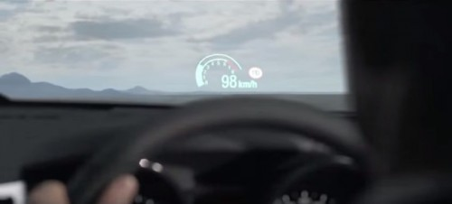 98 km/h on the speedometer
