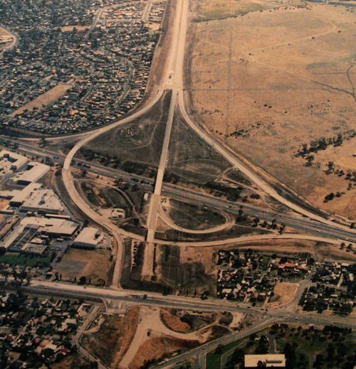Tullamarine Freeway / Western Ring Road interchange - circa 1992