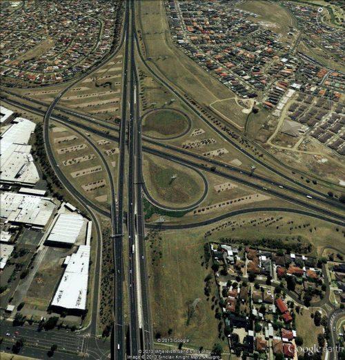 Tullamarine Freeway / Western Ring Road interchange - 2013