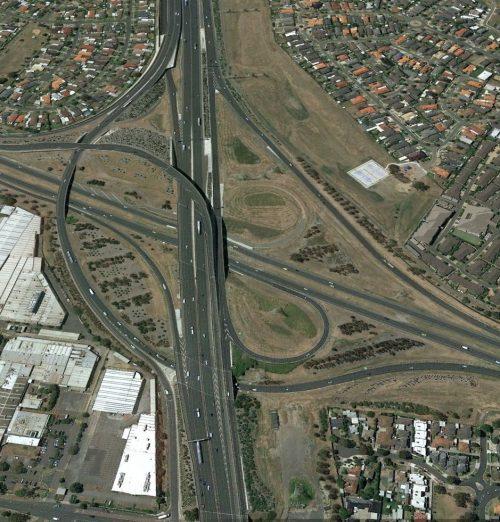 Tullamarine Freeway / Western Ring Road interchange - 2015