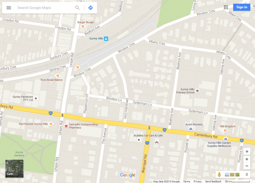 Proposed Warrigal Road to Union Road link in Surrey Hills