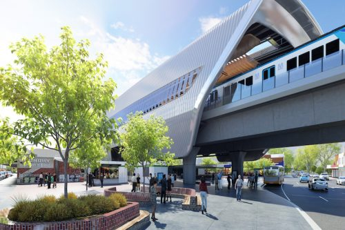 Image of the proposed design for the new Murrumbeena Station