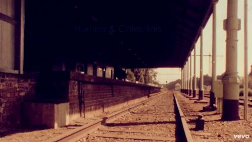 Hunters & Collectors - Talking To A Stranger video clip, St Kilda railway station 1