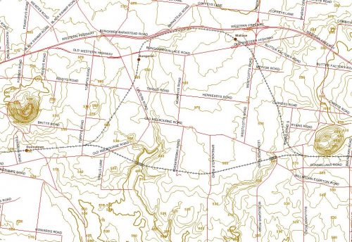 Topographical map - Bungaree, Dunnstown and Millbrook, Victoria