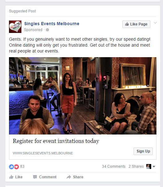 Speed Dating Melbourne 2014