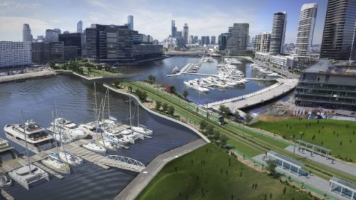 A proposed bridge for trams over the Yarra. Photo: Port Phillip Council