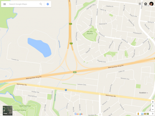 Google Maps missing junction of Metropolitan Ring Road and Craigieburn Bypass