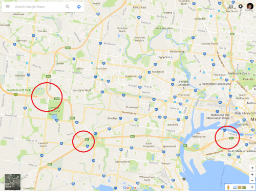 Missing freeway junctions on Google Maps
