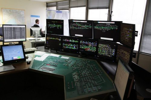 Control desk at Metrol