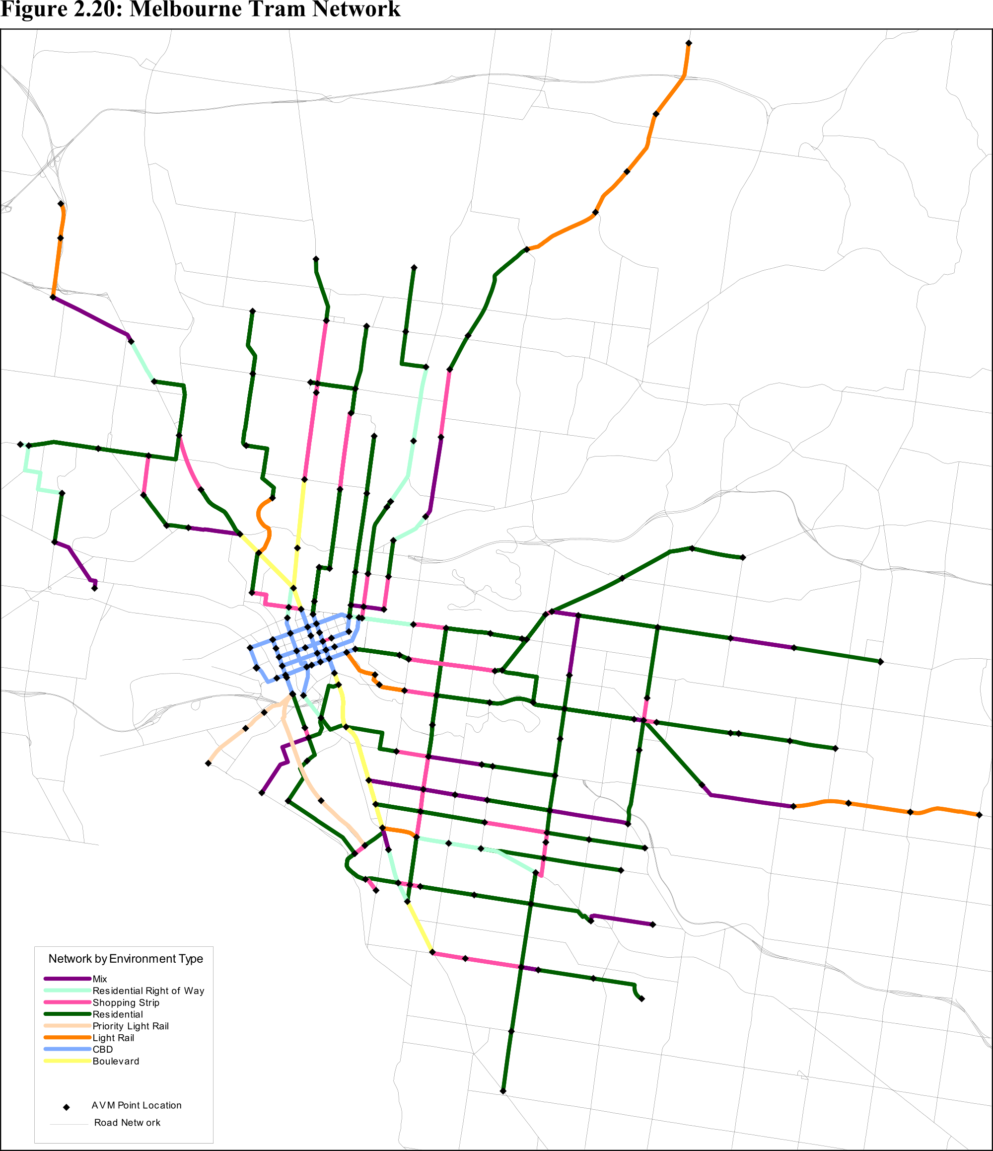 Categorising the Melbourne tram network by environment Waking up